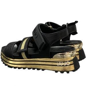 liujo sandalo donna nero