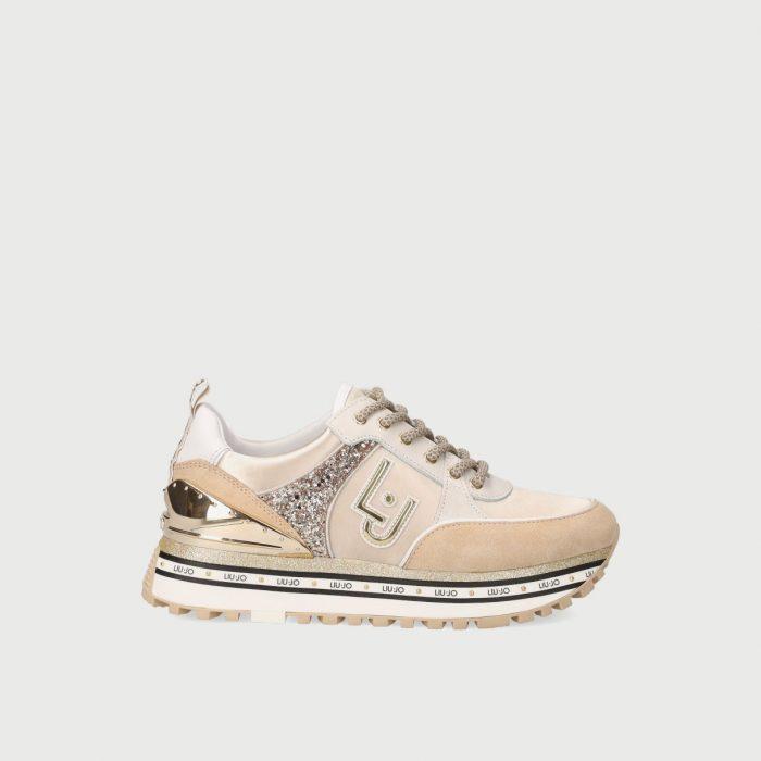 liu jo Sneakers in suede con glitter
